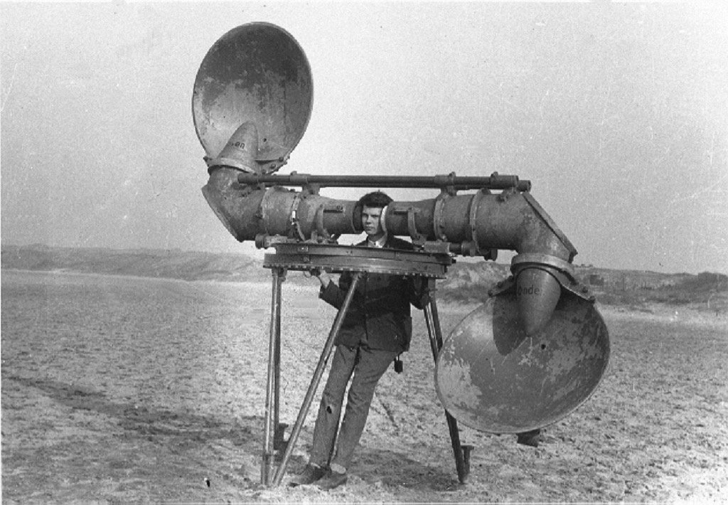 Before the invention of radar, aircraft were detected by listening